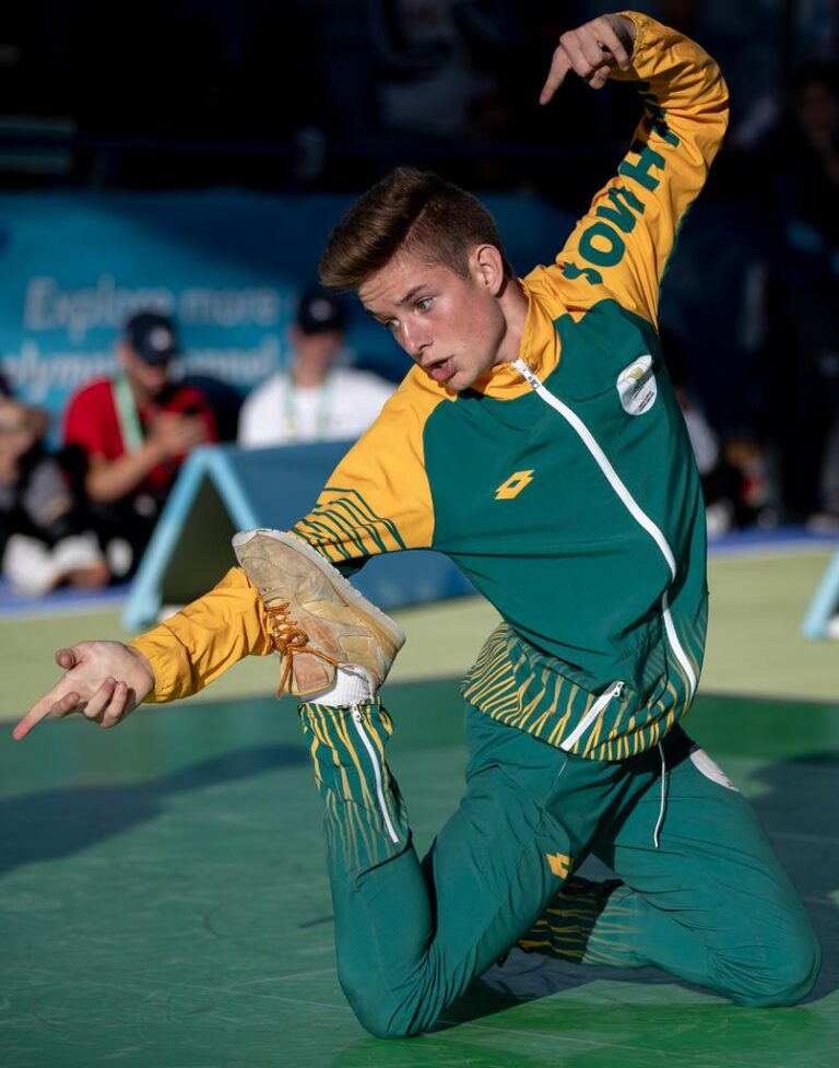 Jordan Smith Olympic Representative of South Africa in the Youth Olympics 2018 only at DanceWeb Studio Randburg South Africa